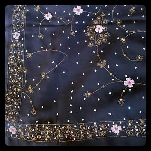 Dresses & Skirts - NWT black Indian wedding saree hand embroidered